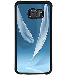 ColourCraft Feathers Design Back Case Cover for SAMSUNG GALAXY S6