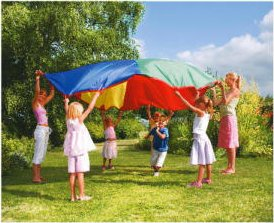 12-foot Play Parachute Kids Canopy Children Wind Tent from PTLF
