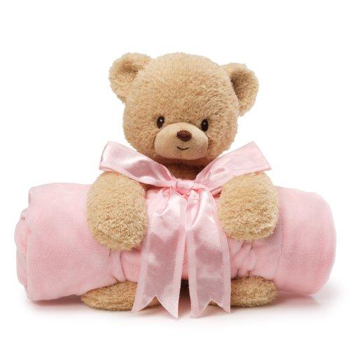 Gund Baby Blanket Set, Teddi Bear & Pink front-608632