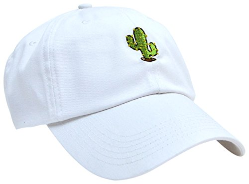 Skyed Apparel CACTUS Embroidery Adjustable Baseball Cap Hat (White) (Kc Company Smash compare prices)