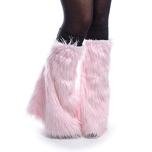 Blue Banana Women's Rave Legwarmers - Baby Pink #4 (Pink Fluffies Leg Warmers)