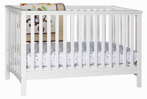 Stork Craft Hillcrest Fixed Side Convertible Crib, White