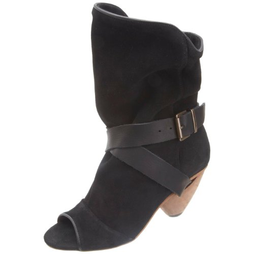 Fly London Women's Tay Black Mid Calf Boot P141867005 6 UK