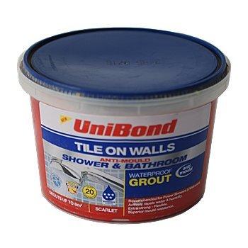 Unibond Tile Grout - Waterproof - Scarlet - 1.5kg