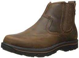 Skechers USA Men\'s Segment-Dorton Chukka Boot,Dark Brown,9.5 M US