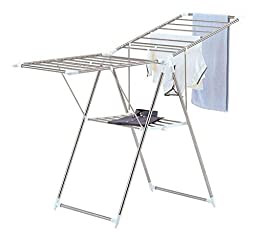 Best, Large and Collapsible Chrome Finish Metal Clothes Drying Rack by Organize It All