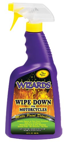 Wizards 22220 'Wipe Down' Motorcycle Matte Finish Detailer - 22 oz.