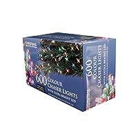The Christmas Workshop 600 LED Chaser String Lights, Multi-Coloured from Benross Group