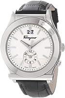 Salvatore Ferragamo Men's F62LDT9902 S009 1898 Quartz Dual Time Black Croco-Print Calfskin Watch by Salvatore Ferragamo