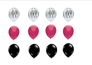 Qualatex Zebra print latex balloons Birthday, Graduation, Baby Shower Decorations Supplies