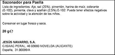 Würzmittel für Paella la Carmencita von J. Jimenez S.L. - Gewürze Shop
