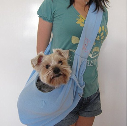 ForTech® Reversible Pet Sling Carrier Bag for Small Dog Cat,Puppy Shoulder Backpack (Blue)