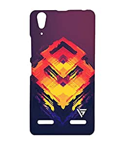 Vogueshell Fire Box Pattern Printed Symmetry PRO Series Hard Back Case for Lenovo A6000