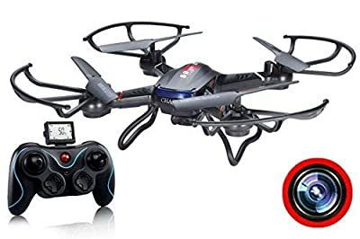 ZeliCopters® DFD New RC Quadcopter Drone with HD Video Camera RTF 4CH 2.4GHz 6-Gyro Headless System (A Key Back Auto) Remote Control Quadcopters Drones (Color May Vary) by DFD