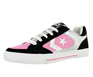 Converse Women's Optium Ox Skate Shoe Black, Pink, White (8)
