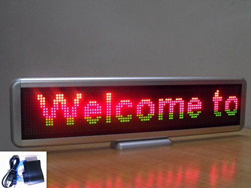 "New 3 Color 22"" Programmable Led Message Sign Scroll Display Desk Board 16X128"