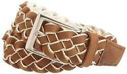 Nautica Men's Braid Belt, Brown, 44