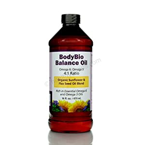 BodyBio Balance Oil - organic sunflower and flax seed oil blend