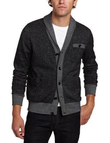 Marc Ecko Cut & Sew Men's Fleece Army Band Cardigan Sweater