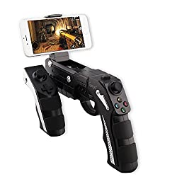 iPega PG-9057 Wireless Bluetooth Instant Game Shooting Gun Vibration Gaming Controller Gamepad Joypad for Android Smartphone, Android Tablet, Android TV Box and Windows XP 7 8 with Max 6 inch Clamp Holder