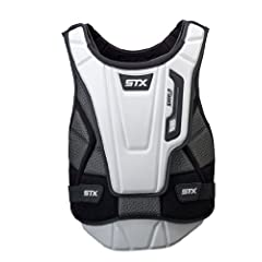 Buy STX Lacrosse Shield Pro goalie Chest Protector, White Black, X-Large by STX