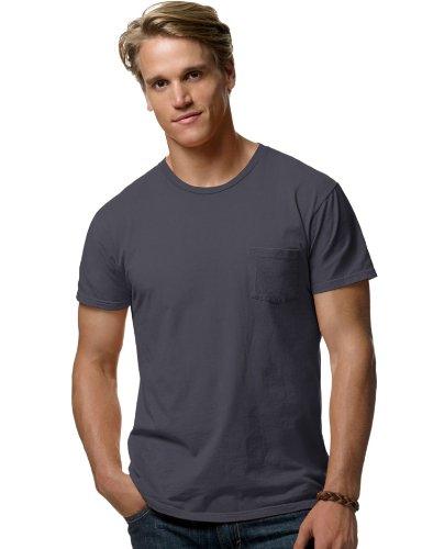 hanes-herren-t-shirt-schwarz-vintage-black-2x