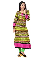 Arista Designer Ready To Wear Green Kurti Size - 38 (KR99)