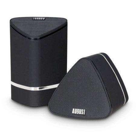 August MS625 高級的なワイヤレスダブルスピーカー [TWS技術を採用 Bluetooth4.0で連続 真のステレオ音質]