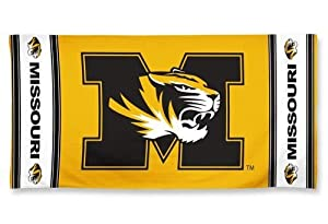 Buy Missouri Tigers Mizzou Pool Beach Bath Gym Towel Large 30 X 60 with Official NCAA College Sports Team Logo by WinCraft