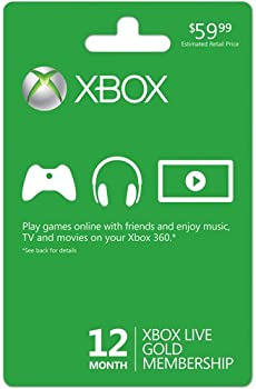 Microsoft Xbox 12 Month Gold Membership