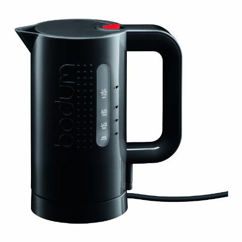 Bodum Bistro 17-Ounce Mini Cordless Electric Water Kettle, Black (Electric Water Kettle 17 Oz compare prices)
