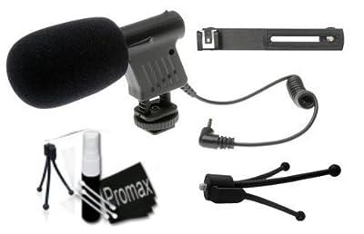 Promax Beginner DSLR Microphone Kit for Canon EOS 5D Mark II III 6D 7D 60D 60Da T5i T4i T3i T3 M SL1