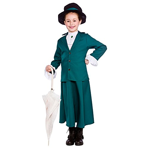 Girls Victorian Nanny Fancy Dress Up Party Costume Halloween Child Mary Outfit