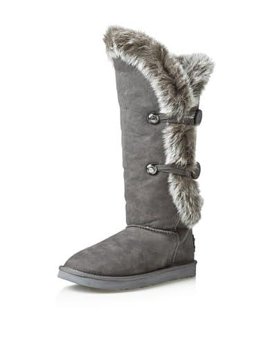 Australia Luxe Collective Women's Nordic Angel Over-the-Knee Fox Fur Boot  – Light Grey