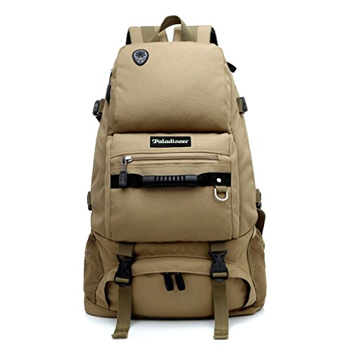 Paladineer Foldable Water Resistant Hiking Backpack and Folding Handy Backpack Daypack and Climbing Camping Outdoor Sports Travel Backpack Bag and Backpack for Travel Hiking Climbing Cycling Running Camping Outdoor Sports 40L Khaki