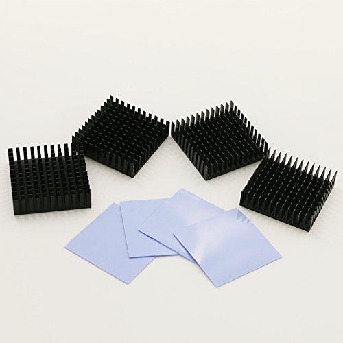 bntechgor-4-pcs-40mm-x-40mm-x-11mm-black-aluminum-heatsink-cooling-fin-4-pcs-40mm-x-40mm-x-05mm-sili