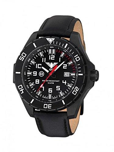 KHS Tactical orologio uomo Landleader Black Steel KHS.LANBS.L