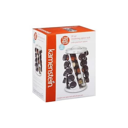 Amazon Kamenstein 20 Jar Revolving Spice Rack With 5
