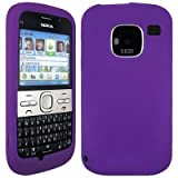 Wayzon Purple Nokia E5 Case Cover Skin Pouch Shell Plain Silica Rubber