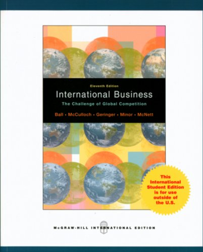 International Business: The Challenge of Global Competition (11th International