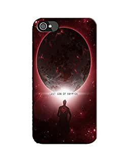 EU4IA Last Son OF Krypton Pattern MATTE FINISH 3D Back Cover Case For iPhone ...