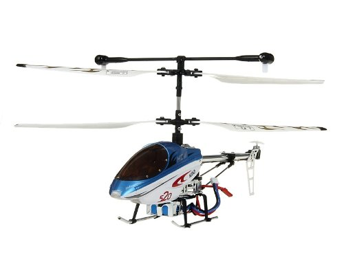 HCW 520 Aluminum Alloy 3-Channel RC Helicopter with Gyroscope Lights (Blue)