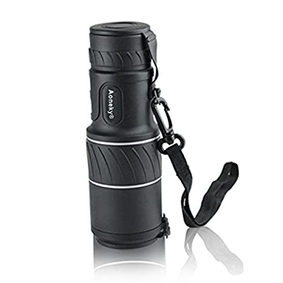 Luwint 10x 40 Compact Monocular Telescope - High Powered Dual Focus 10X Closer for Hunting Bird Watching with Lens Dust Covers, Black from DreamsEden