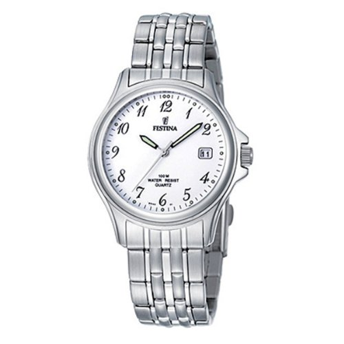 Festina F8840/1 - Reloj analógico de cuarzo para hombre con correa de acero inoxidable, color plateado