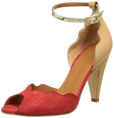 Emma Go16023 - Sandali Donna , Rosso (Rouge (Red/Pale/Platino)), 40