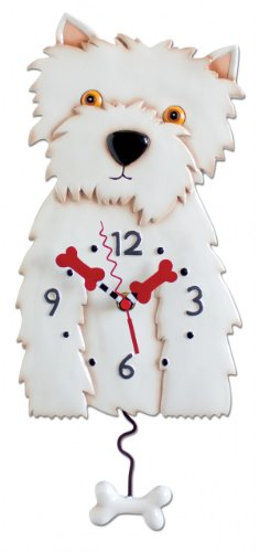 Westin Dog Westie Clock Allen Designs