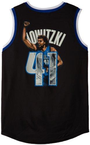 NBA Men's Dallas Mavericks Dirk Nowitzki #41 Notorious Jersey (Black/Royal/White, Large) Majestic Jerseys autotags B006U1X136
