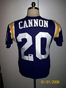 Billy Cannon Autographed Jersey - T b 1959 Heisman - Autographed College Jerseys by Sports+Memorabilia