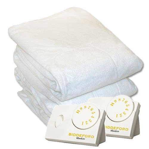 Read About Biddeford Heated Mattress Pad, White, Queen