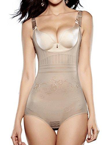Burvogue Damen Netz Bauch Kontroll- Abnehmen figur formend Körper Kurzer